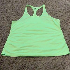 Zella bright Neon green t-back tank XL